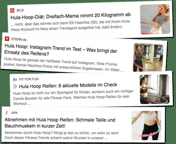 Hula Hoop bekannt aus den Medien
